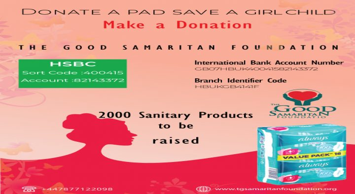 Donate a pad save a girl child